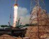 Старт ракеты с космическим кораблем «Ю. А. Гагарин»